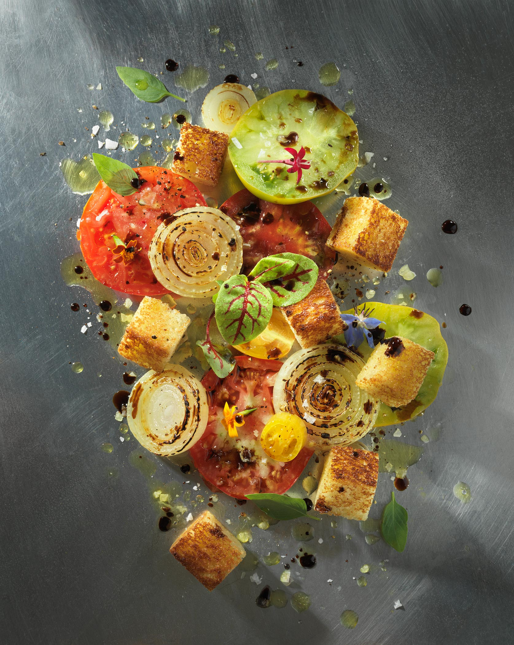 Bread Salad | Steve Hansen Images Seattle Food Photographer