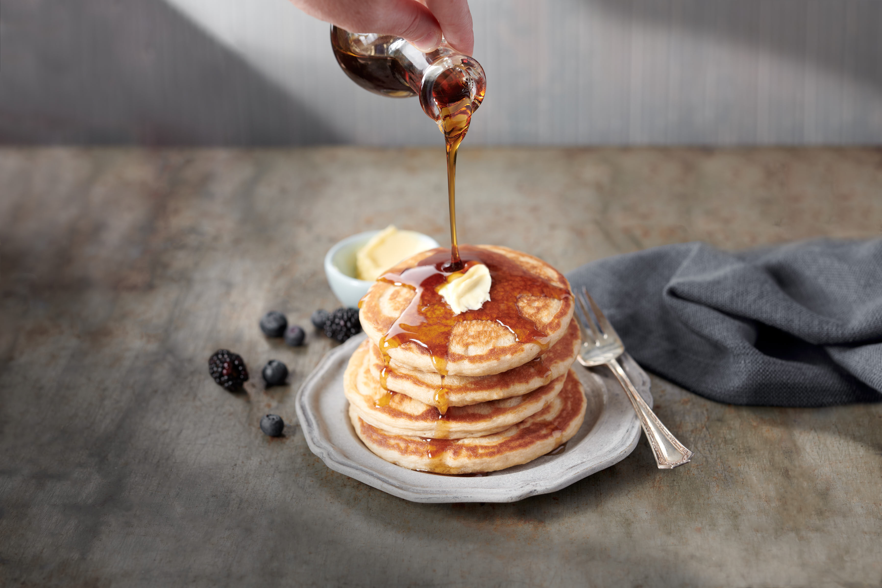 Pancake Pour | Steve Hansen Images Seattle Food Photographer