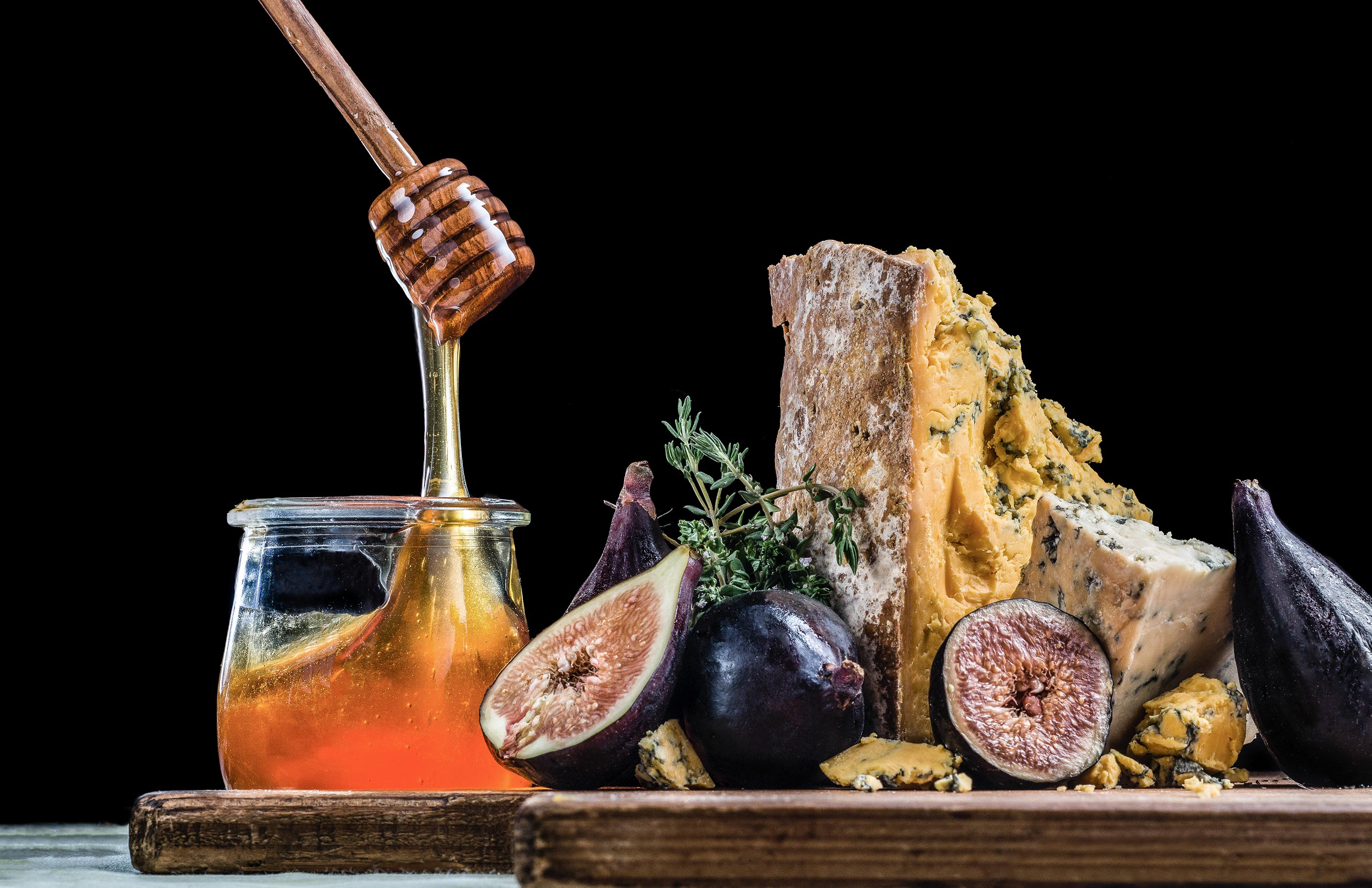 Figs and Honey | Steve Hansen Images Seattle Food Photographer