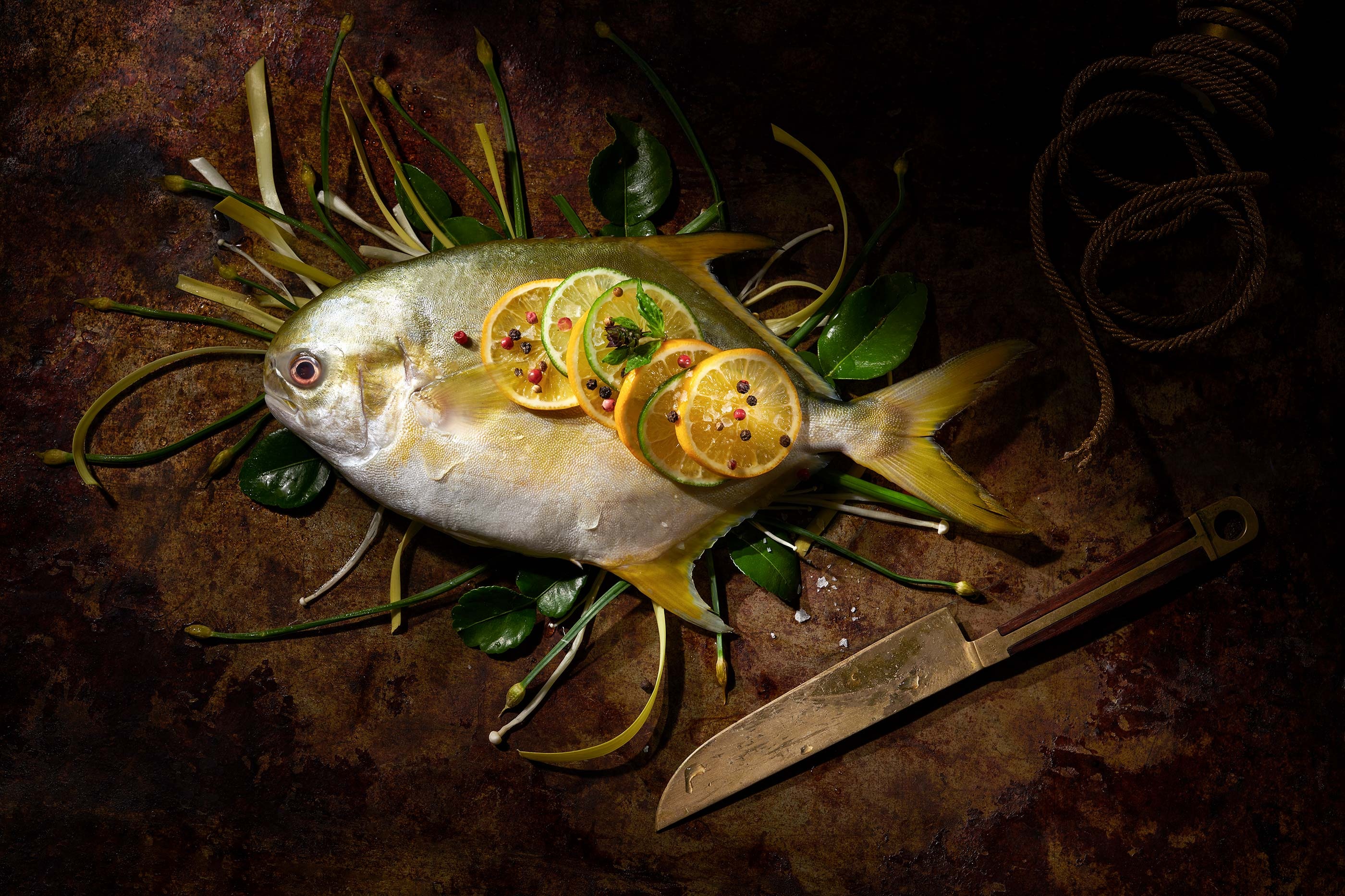 Roasted Fish | Steve Hansen Images Seattle Food Photographer
