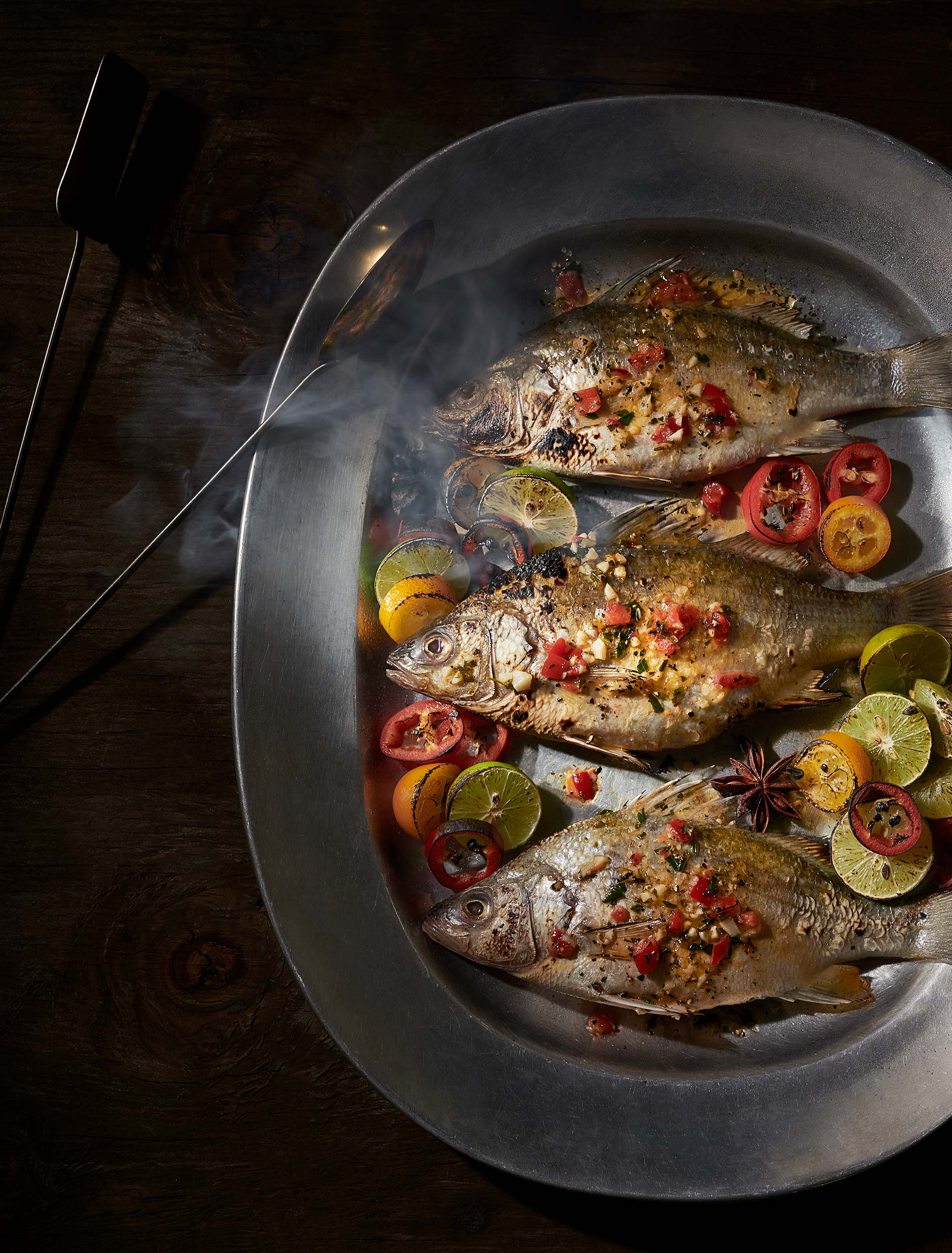 Roasted Fish 2 | Steve Hansen Images Seattle Food Photographer
