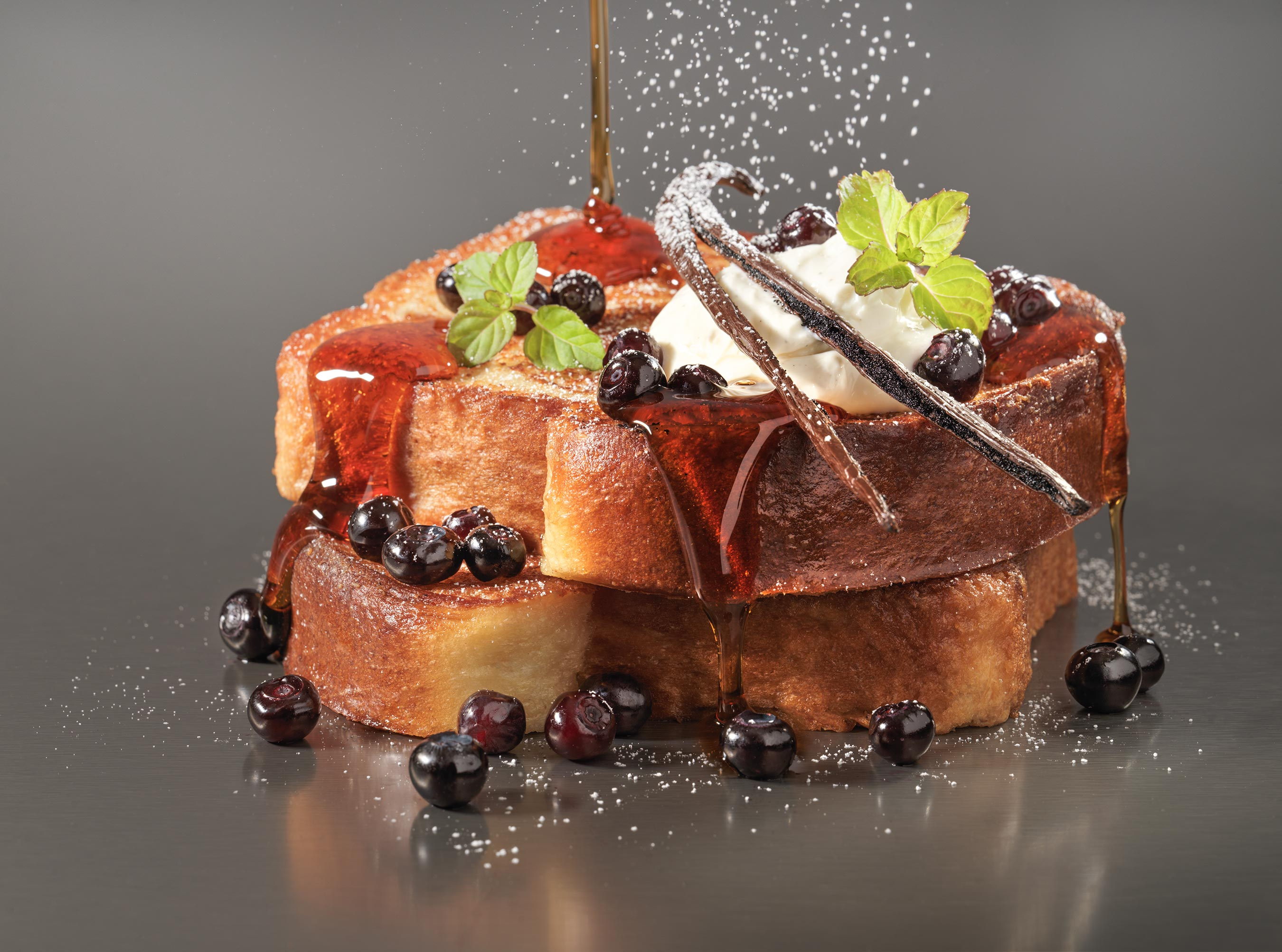 French Toast Vanilla | Steve Hansen Images Seattle Food Photographer
