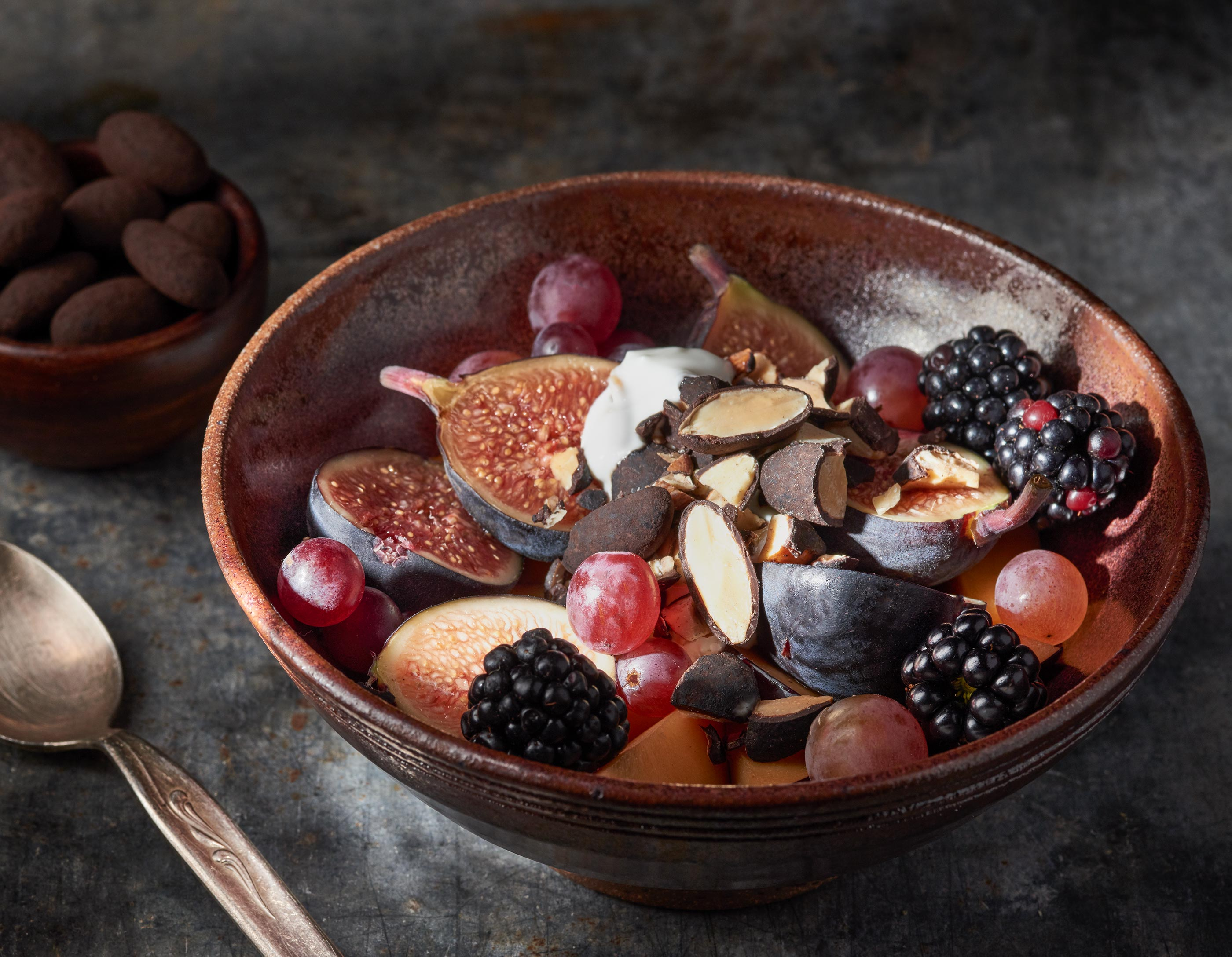 Fruit Smoothie Bowl | Steve Hansen Images Seattle Food Photographer