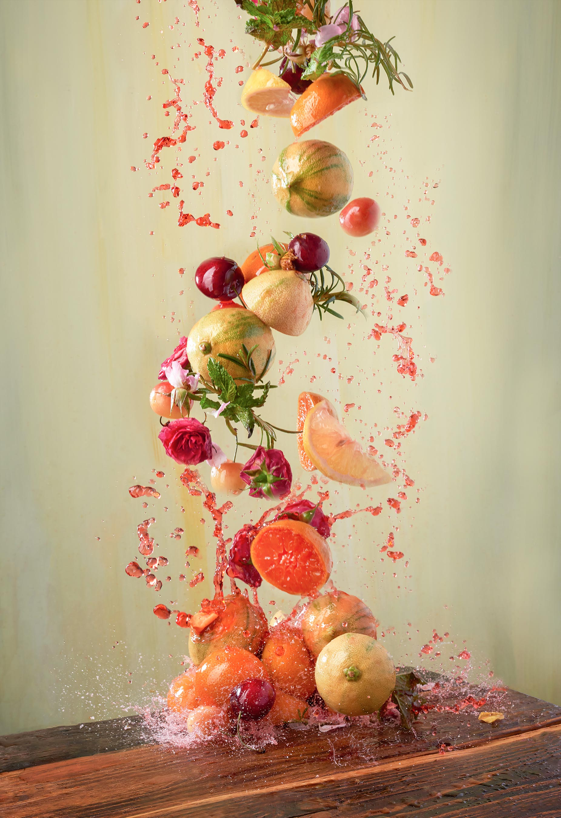 Fruit Punch Splash | Steve Hansen Seattle Food Photographer