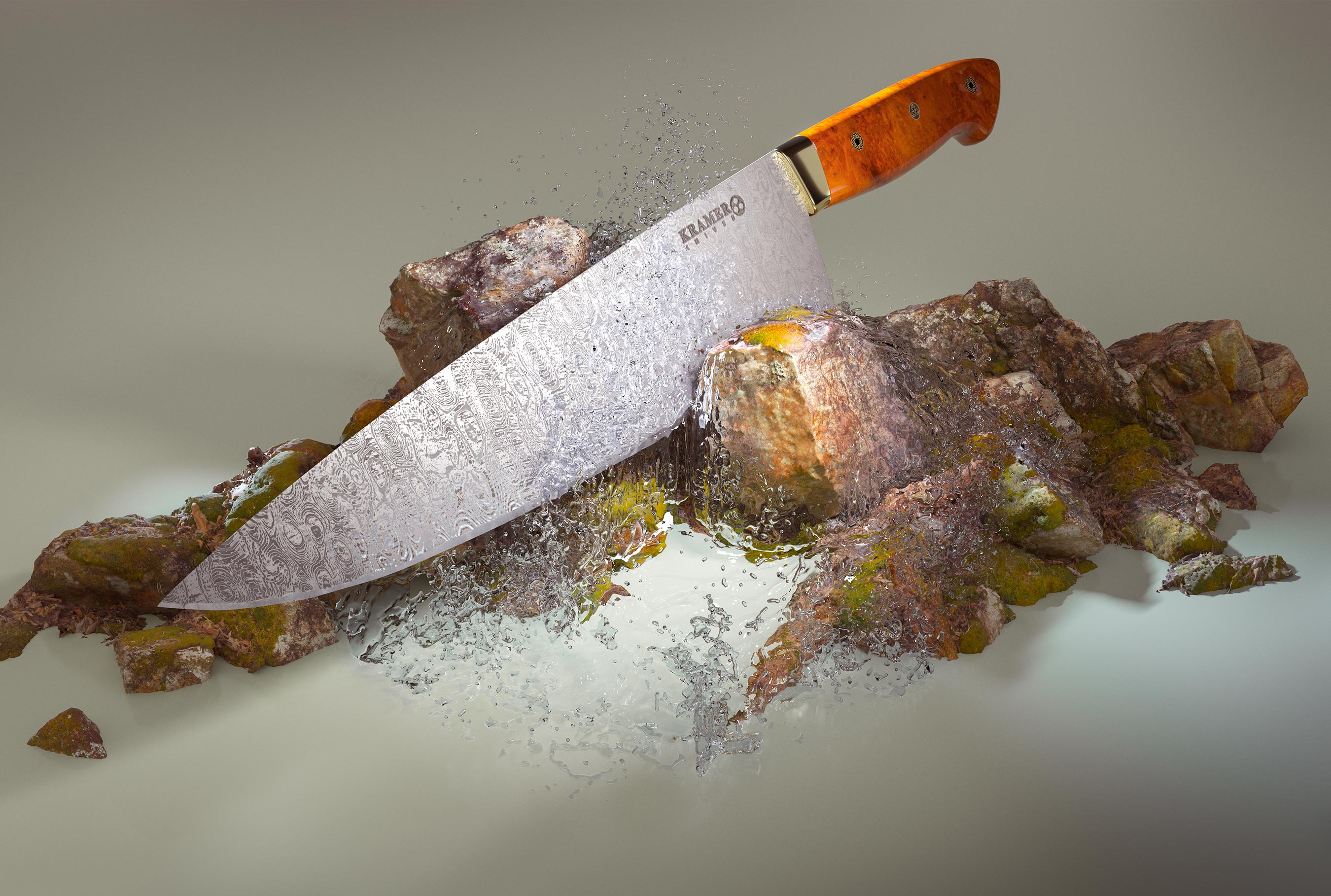 Kramer Knife 3d Render | Steve Hansen Images Seattle Food Photographer