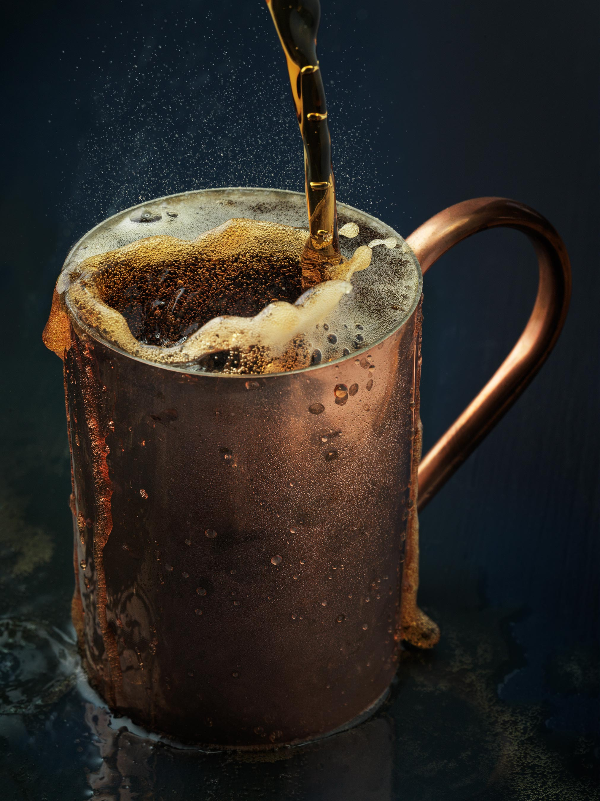 Moscow Mule Splash | Steve Hansen Images Seattle Food Photographer