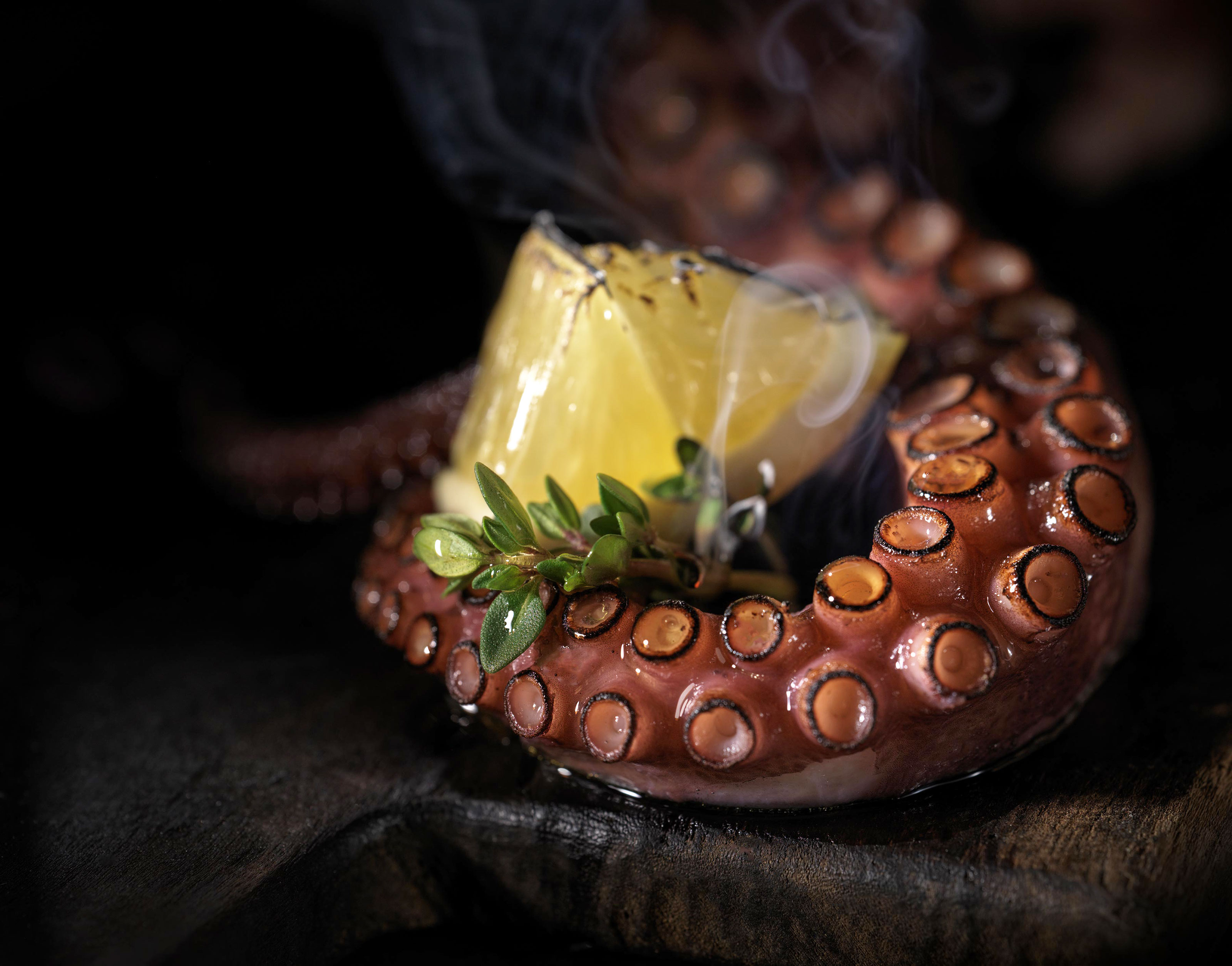 Grilled Octopus | Steve Hansen Images Seattle Food Photographer