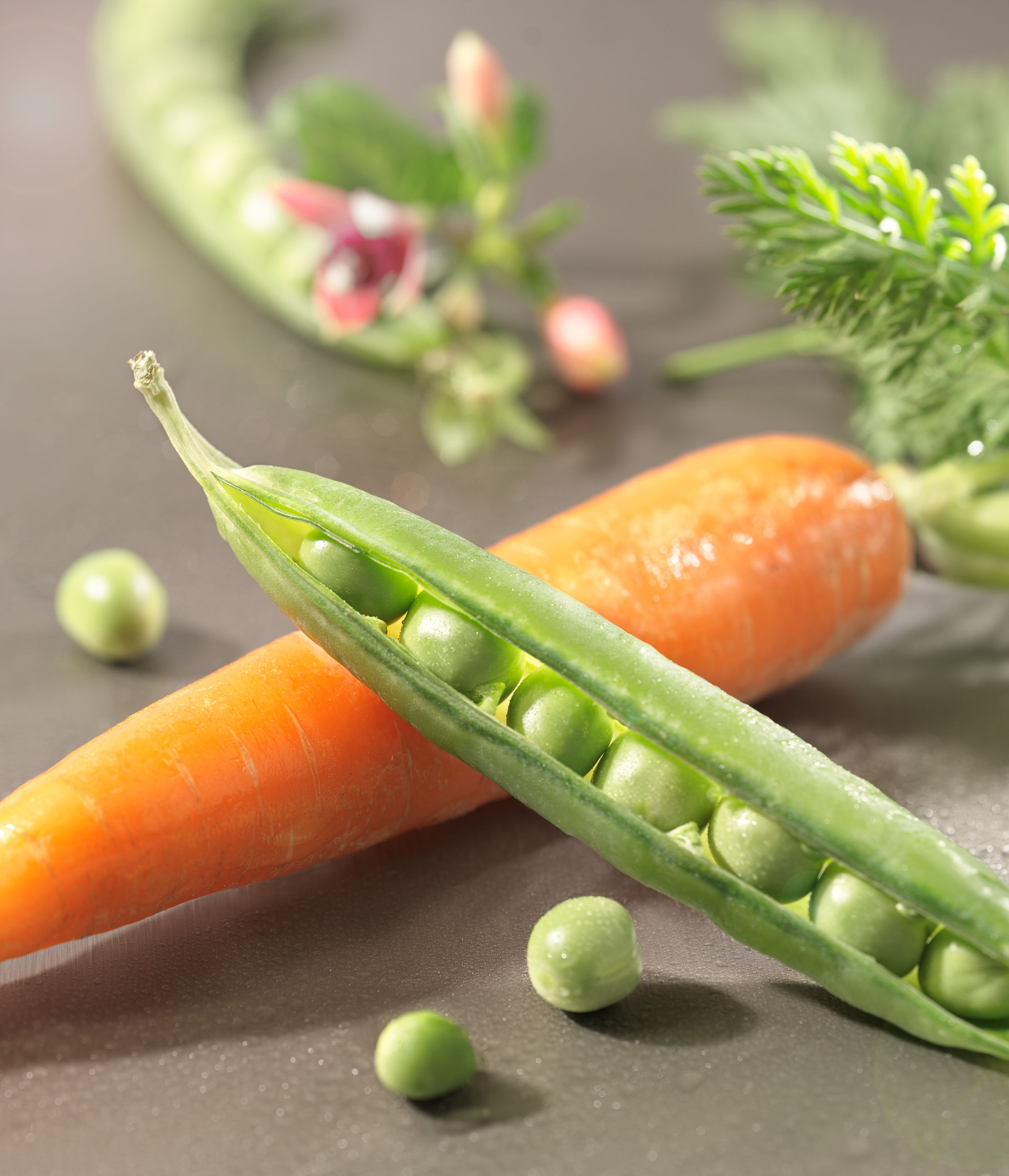 Peas and Carrots | Steve Hansen Images Seattle Food Photographer