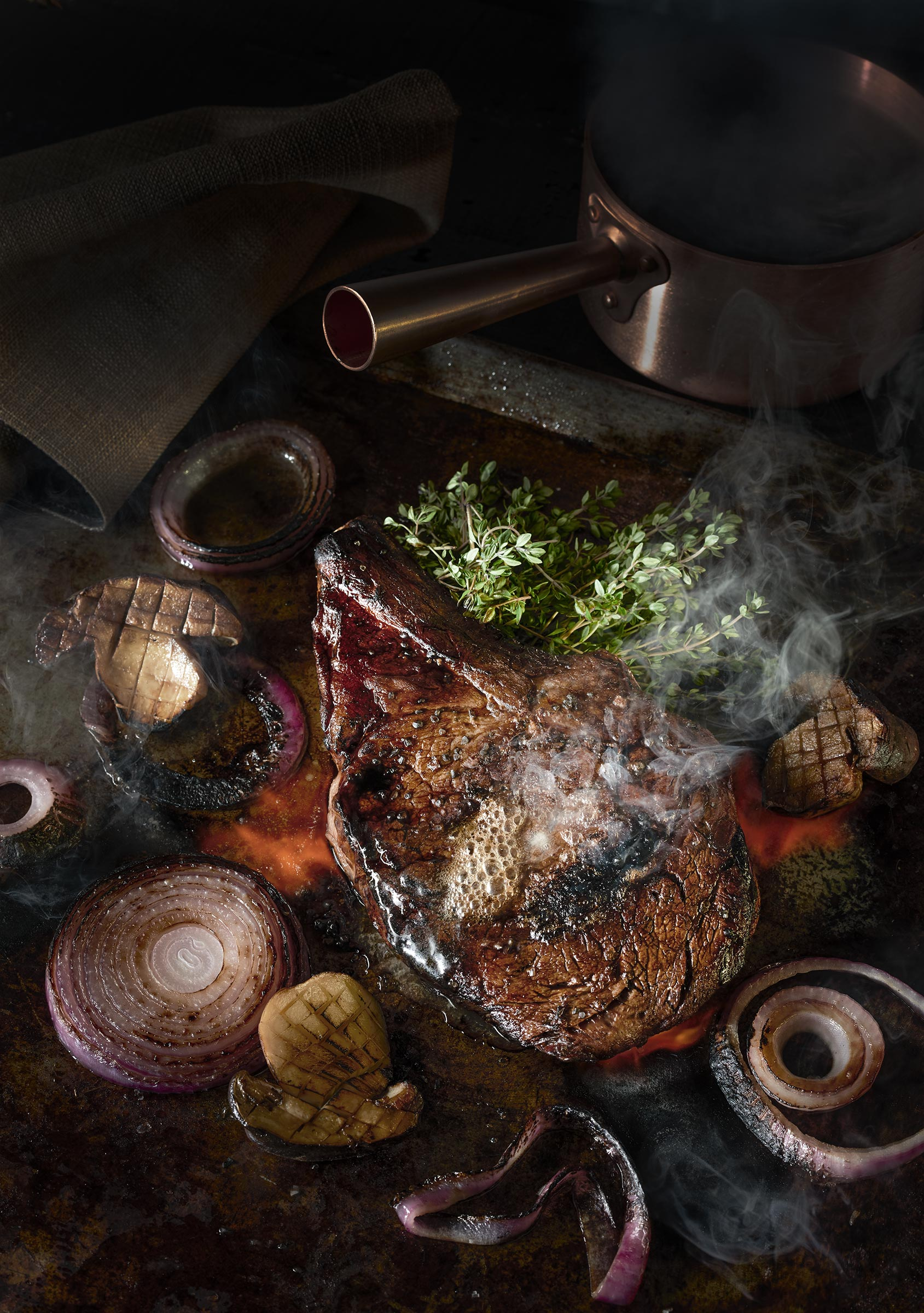 Seared Ribeye Steak | Steve Hansen Images Seattle Food Photographer