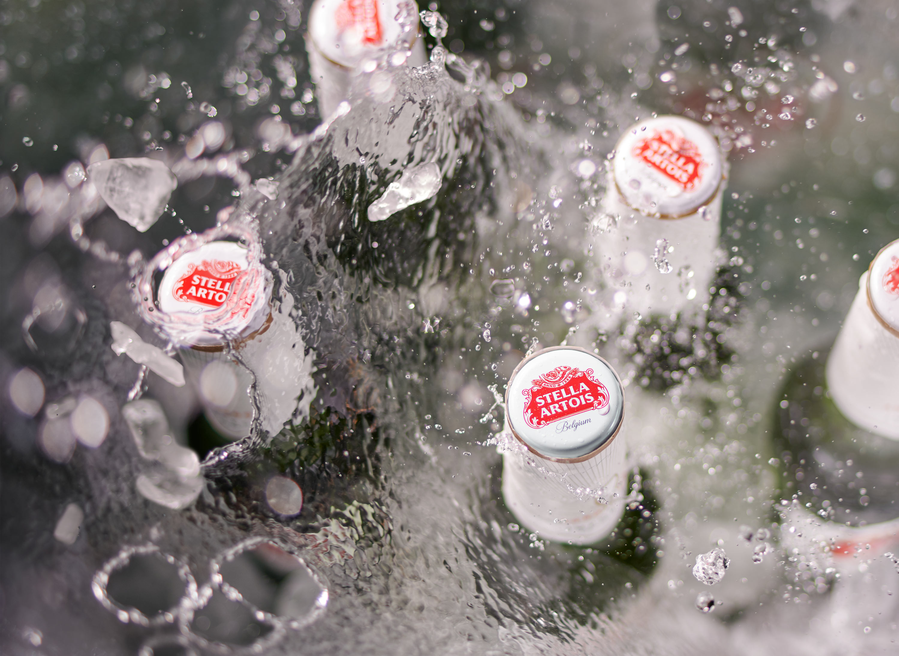 Stella Beer Splash | Steve Hansen Images Seattle Food Photographer