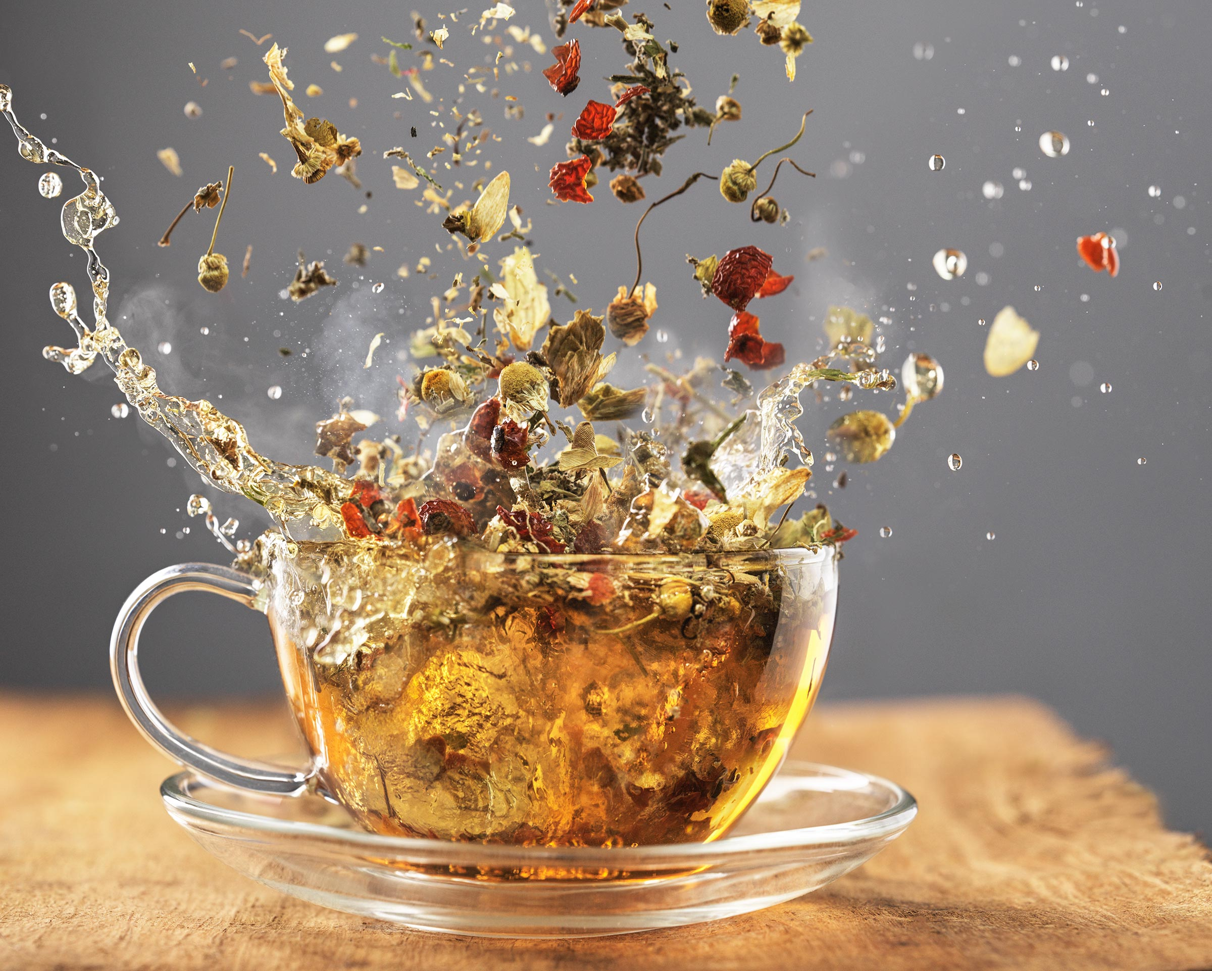 Tea Splash | Steve Hansen Seattle Food Photographer